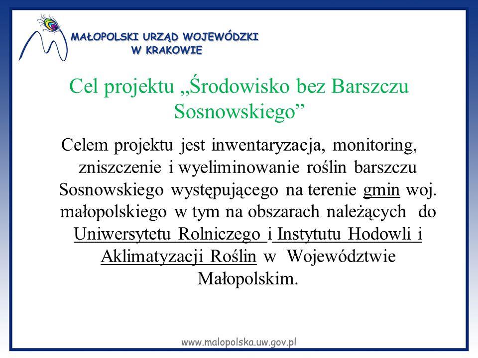 """Cel projektu """"Środowisko bez Barszczu Sosnowskiego"""