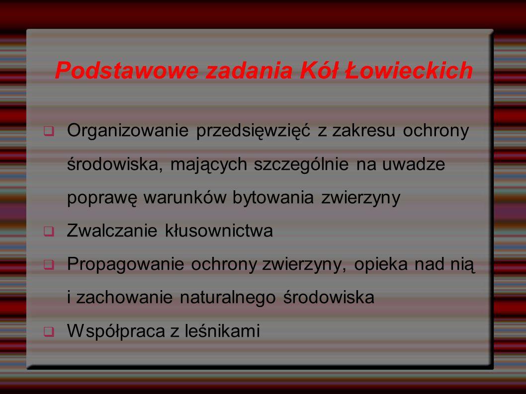 Podstawowe zadania Kół Łowieckich