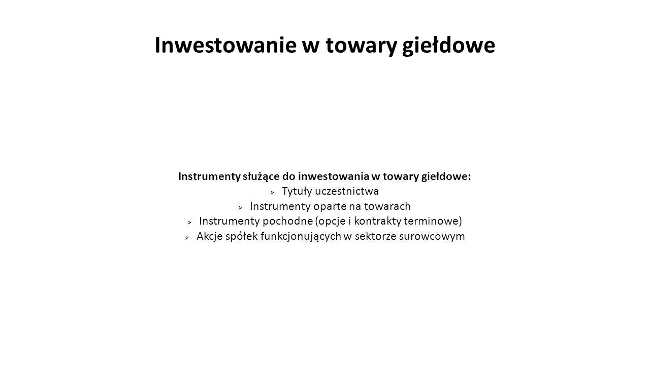 Inwestowanie w towary giełdowe