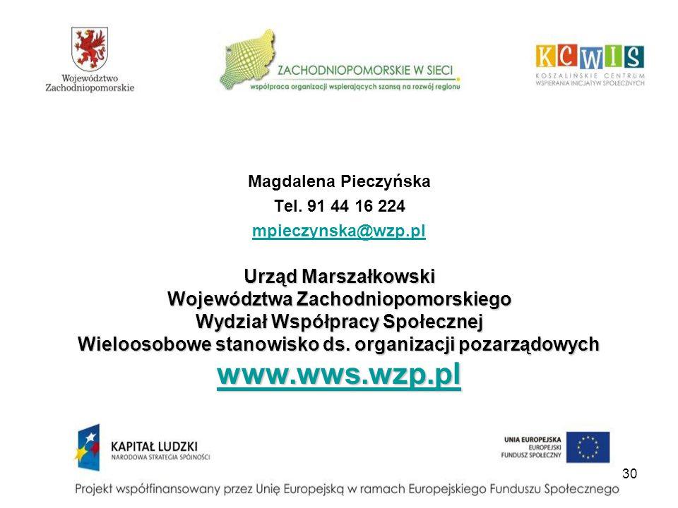 www.wws.wzp.pl Urząd Marszałkowski Województwa Zachodniopomorskiego