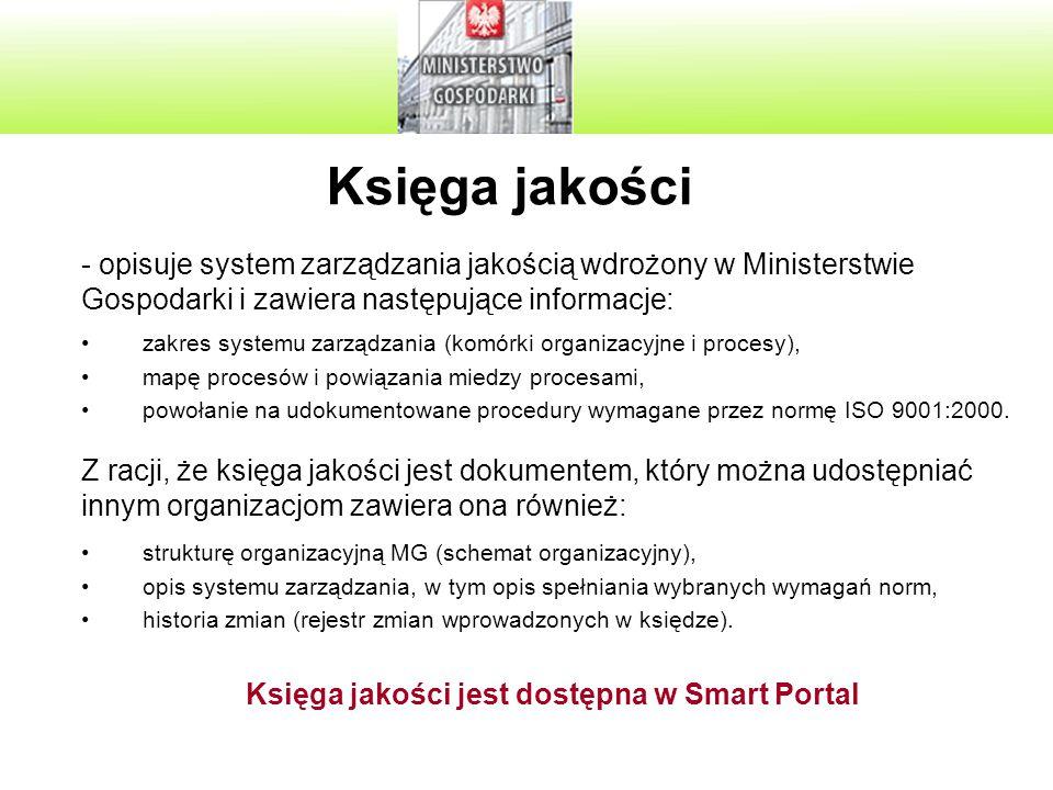 Księga jakości jest dostępna w Smart Portal