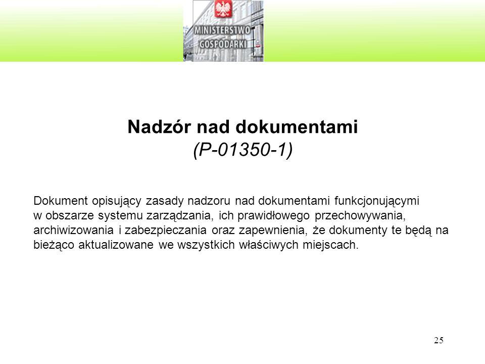 Nadzór nad dokumentami (P-01350-1)