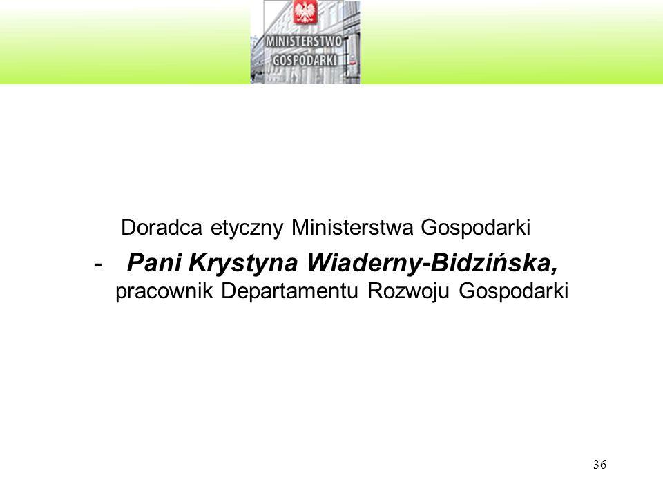 Doradca etyczny Ministerstwa Gospodarki