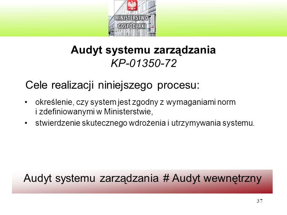Audyt systemu zarządzania KP-01350-72