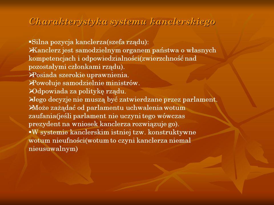Charakterystyka systemu kanclerskiego