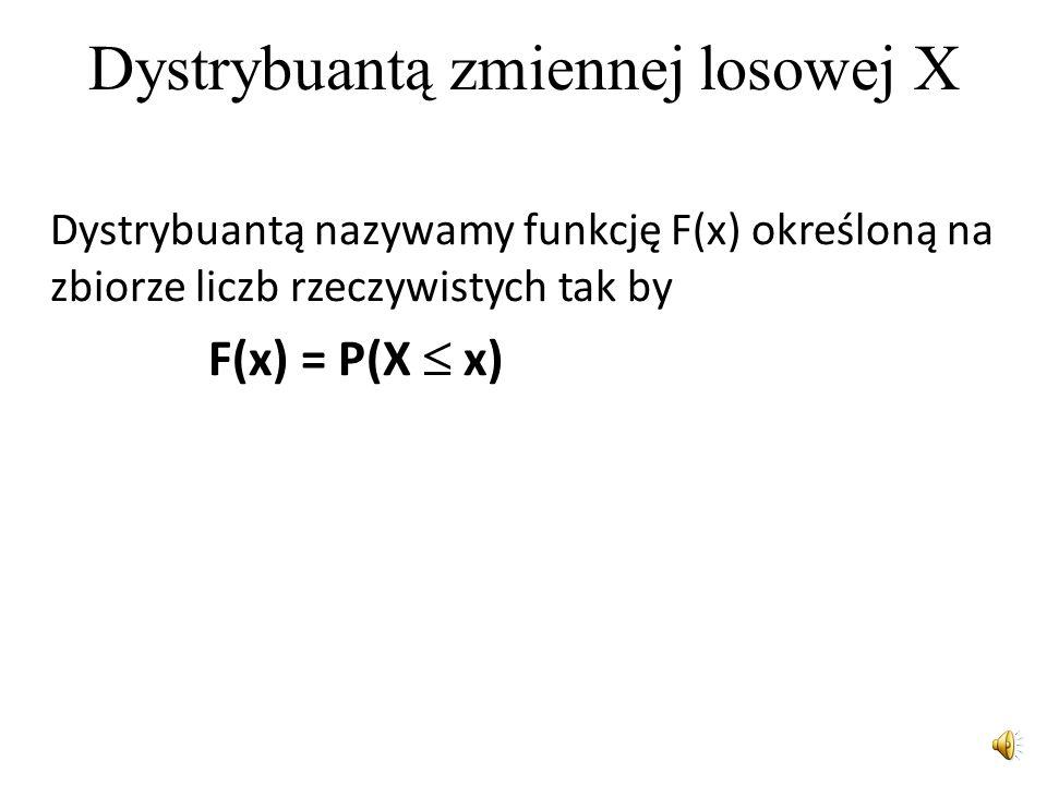 Dystrybuantą zmiennej losowej X