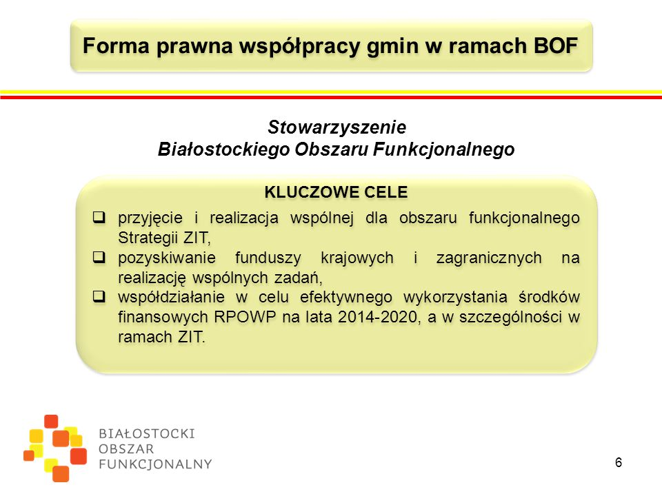 Forma prawna współpracy gmin w ramach BOF