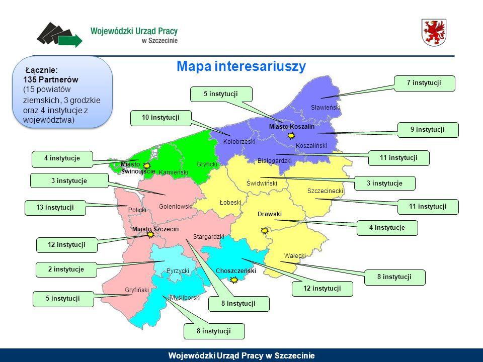 Mapa interesariuszy Łącznie: 135 Partnerów