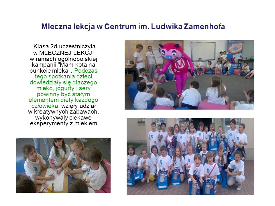 Mleczna lekcja w Centrum im. Ludwika Zamenhofa