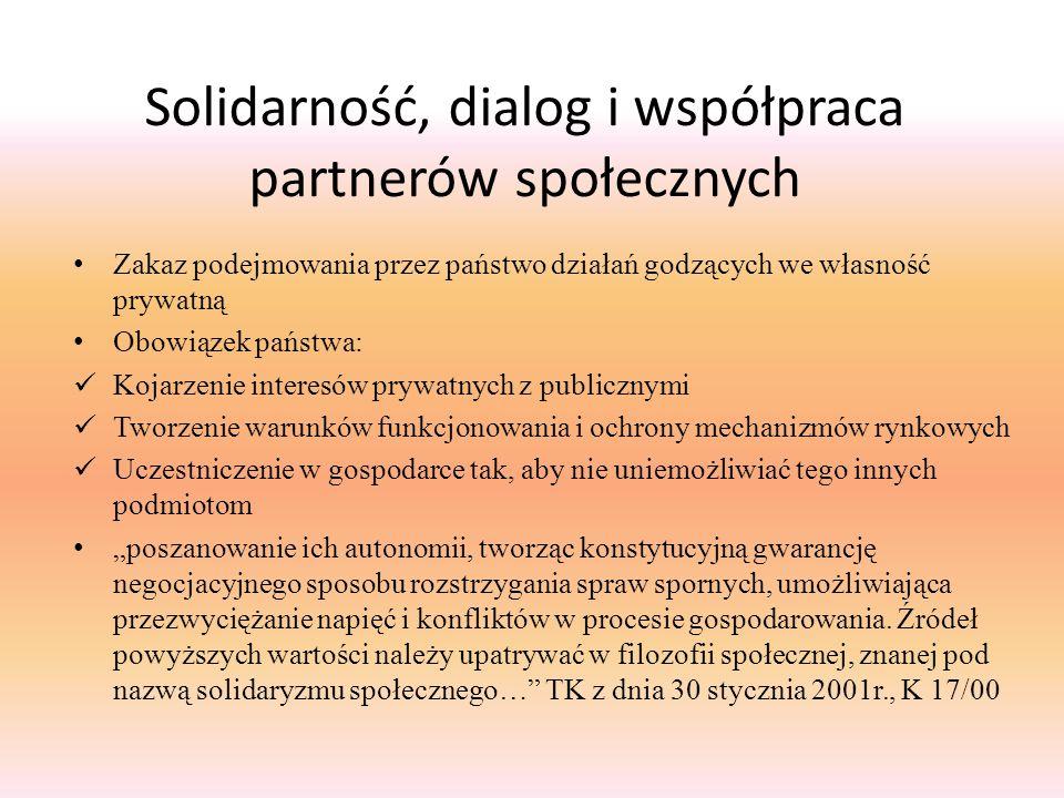 Solidarność, dialog i współpraca partnerów społecznych