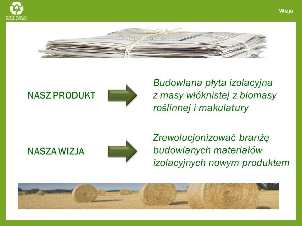 Wizja Budowlana płyta izolacyjna z masy włóknistej z biomasy roślinnej i makulatury. NASZ PRODUKT.