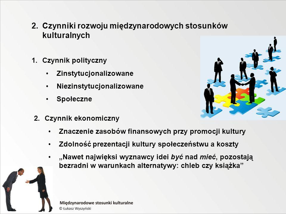 2. Czynniki rozwoju międzynarodowych stosunków kulturalnych