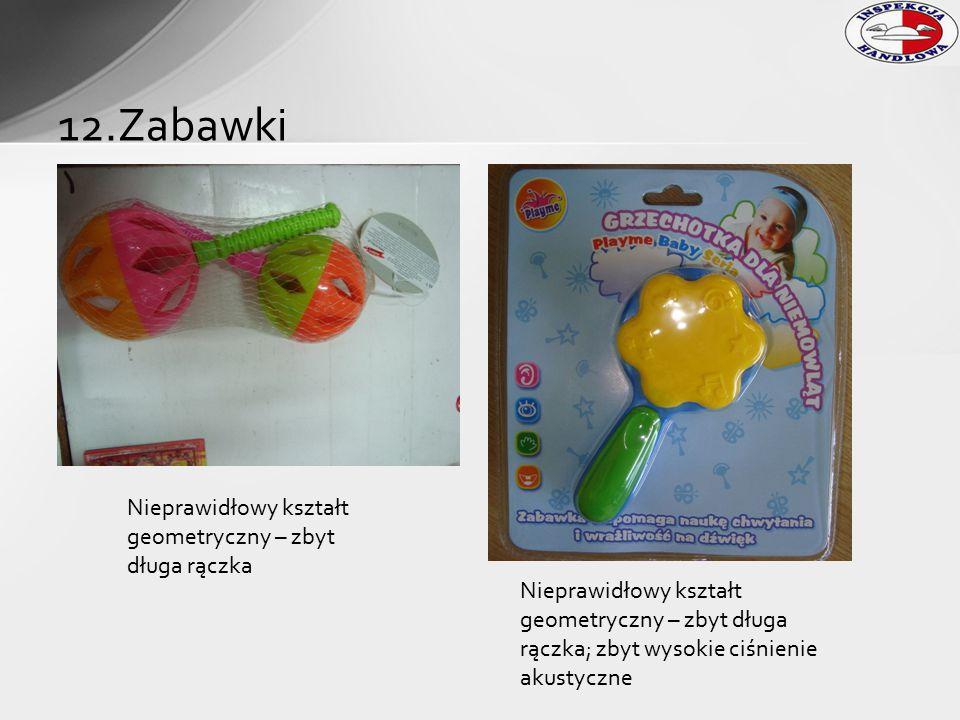 12.Zabawki Nieprawidłowy kształt geometryczny – zbyt długa rączka