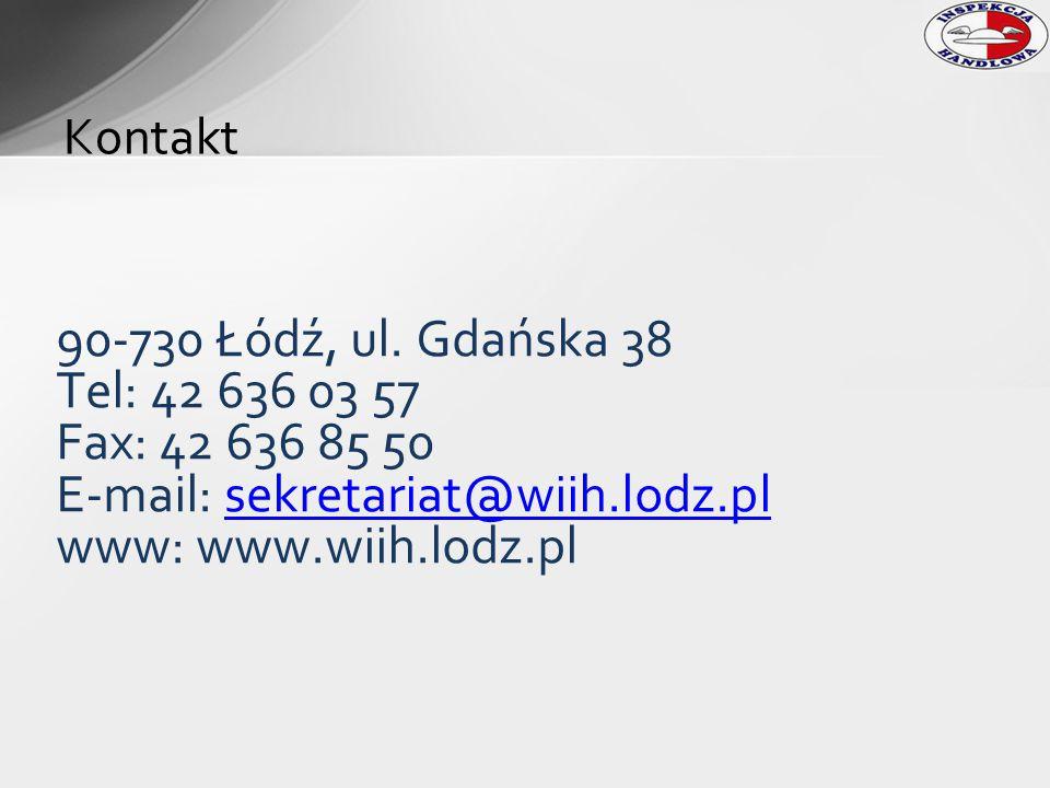 E-mail: sekretariat@wiih.lodz.pl www: www.wiih.lodz.pl