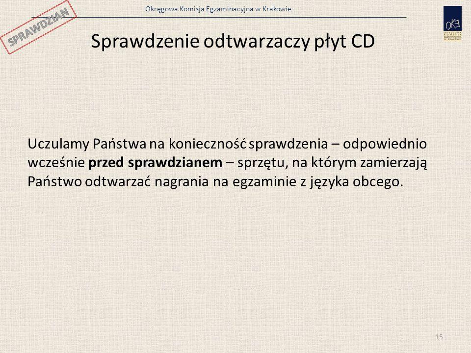 Sprawdzenie odtwarzaczy płyt CD