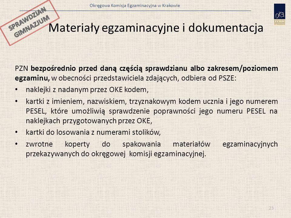 Materiały egzaminacyjne i dokumentacja