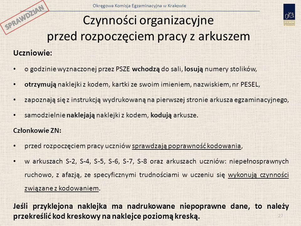 Czynności organizacyjne przed rozpoczęciem pracy z arkuszem