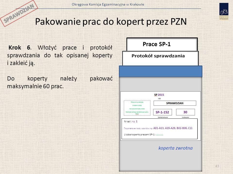 Pakowanie prac do kopert przez PZN