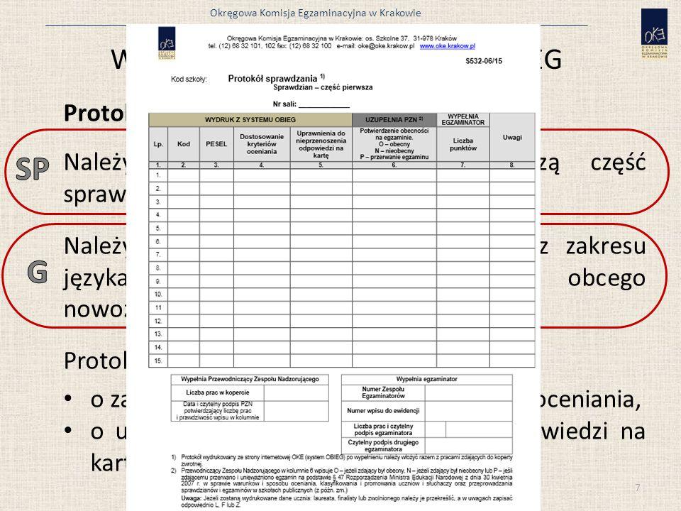 Wydruki i protokoły z systemu OBIEG