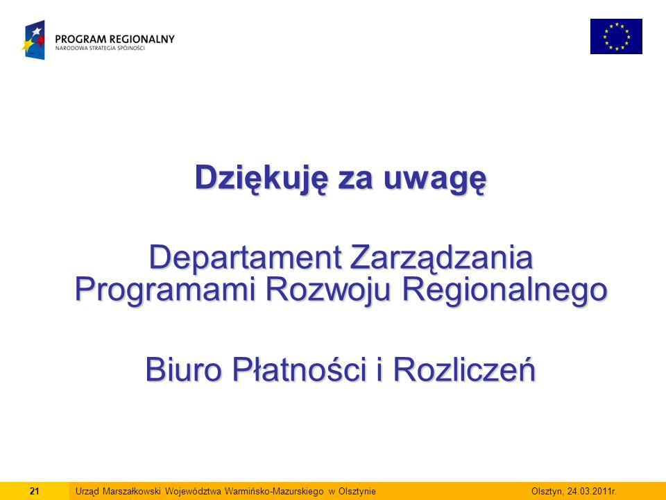 Departament Zarządzania Programami Rozwoju Regionalnego