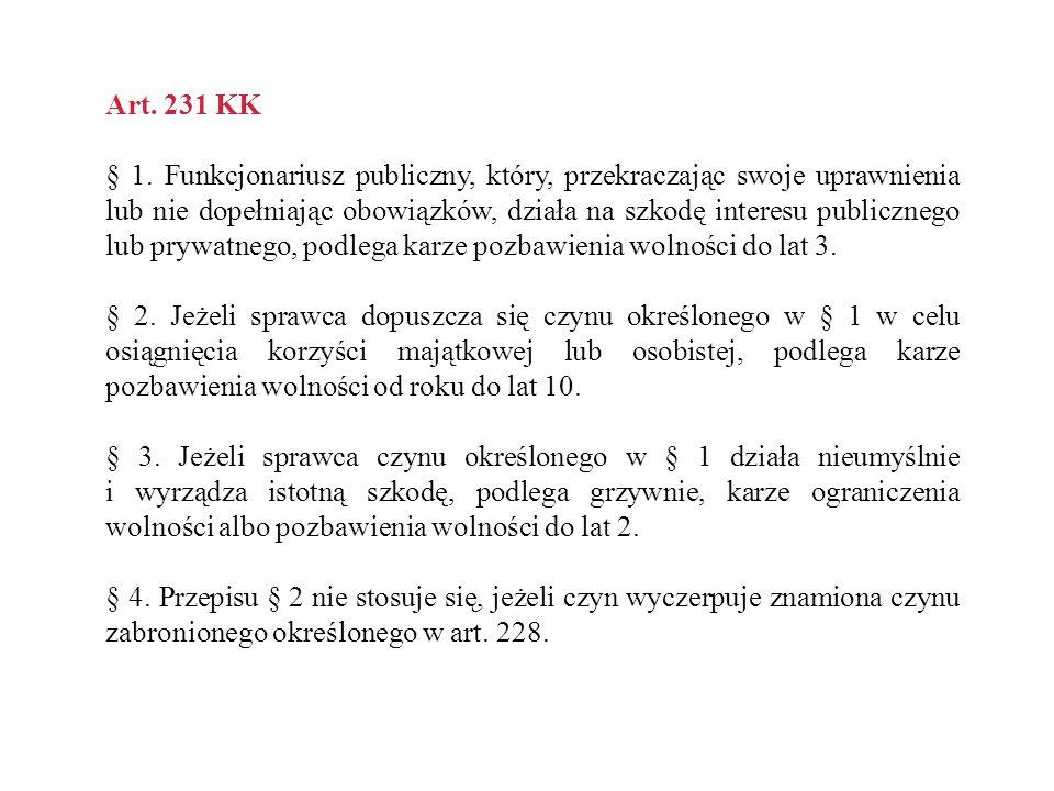 Art. 231 KK