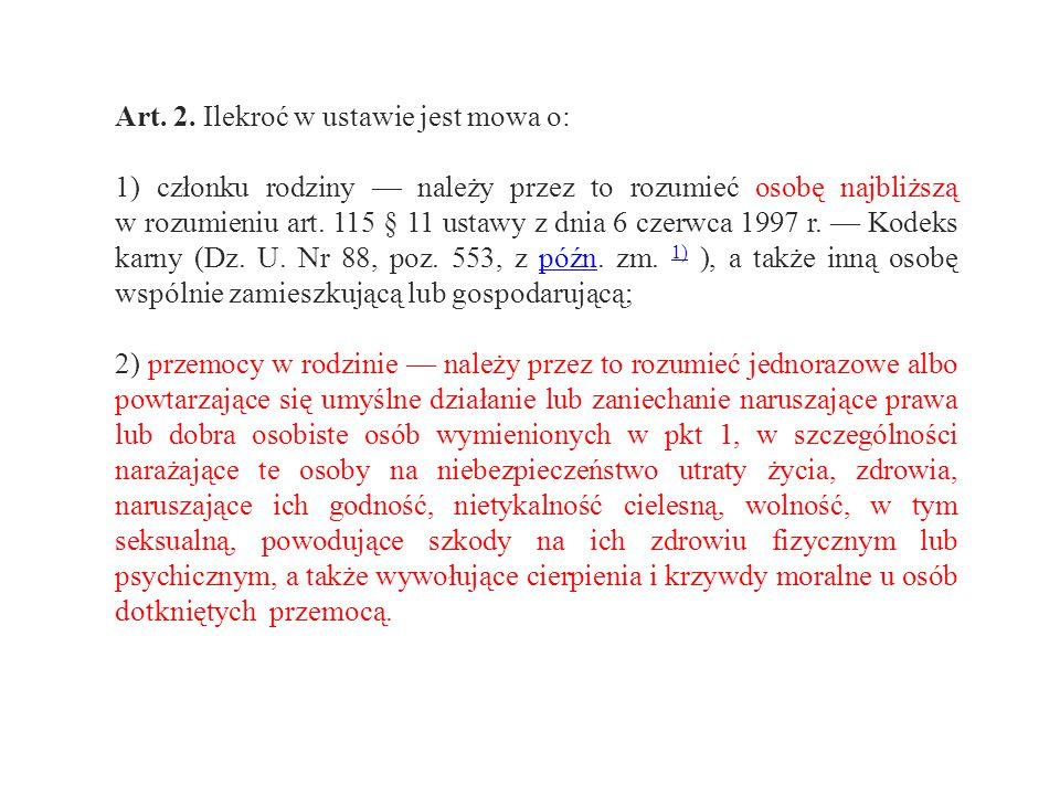 Art. 2. Ilekroć w ustawie jest mowa o: