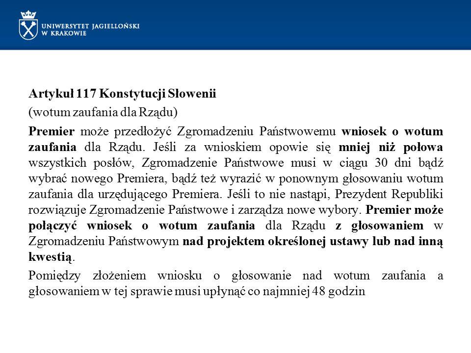 Artykuł 117 Konstytucji Słowenii