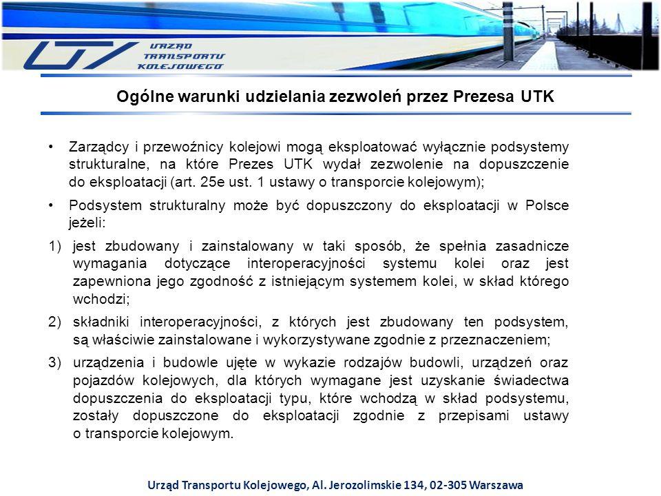 Ogólne warunki udzielania zezwoleń przez Prezesa UTK