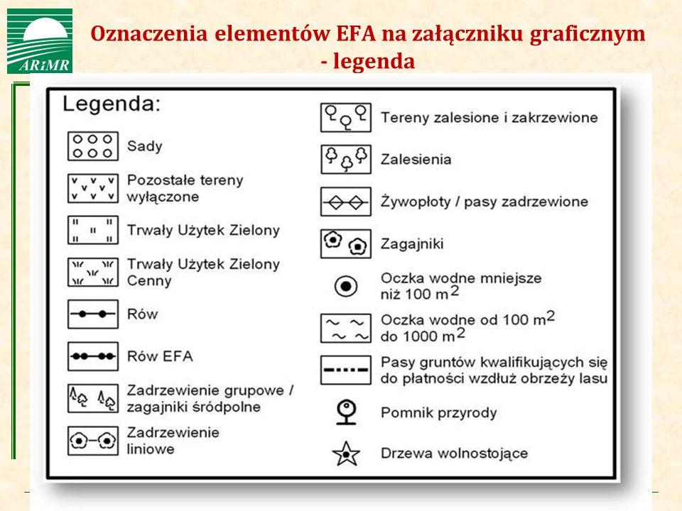 Oznaczenia elementów EFA na załączniku graficznym - legenda