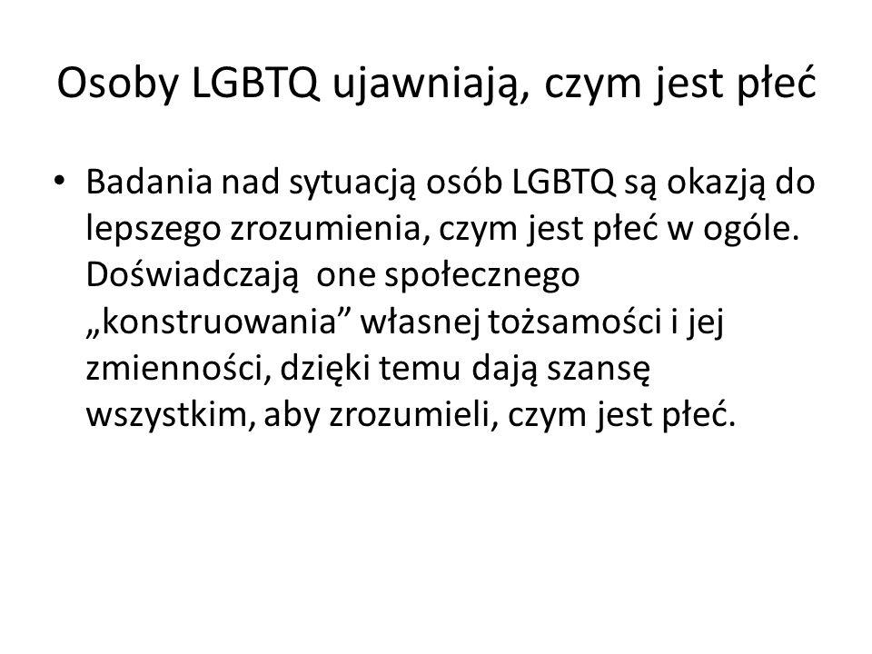 Osoby LGBTQ ujawniają, czym jest płeć
