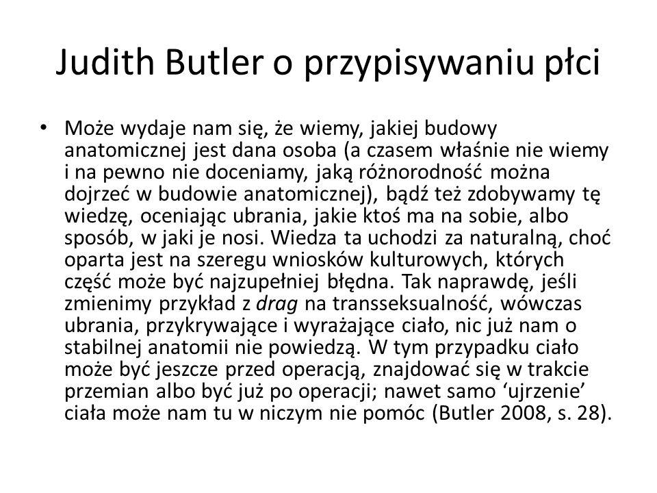 Judith Butler o przypisywaniu płci