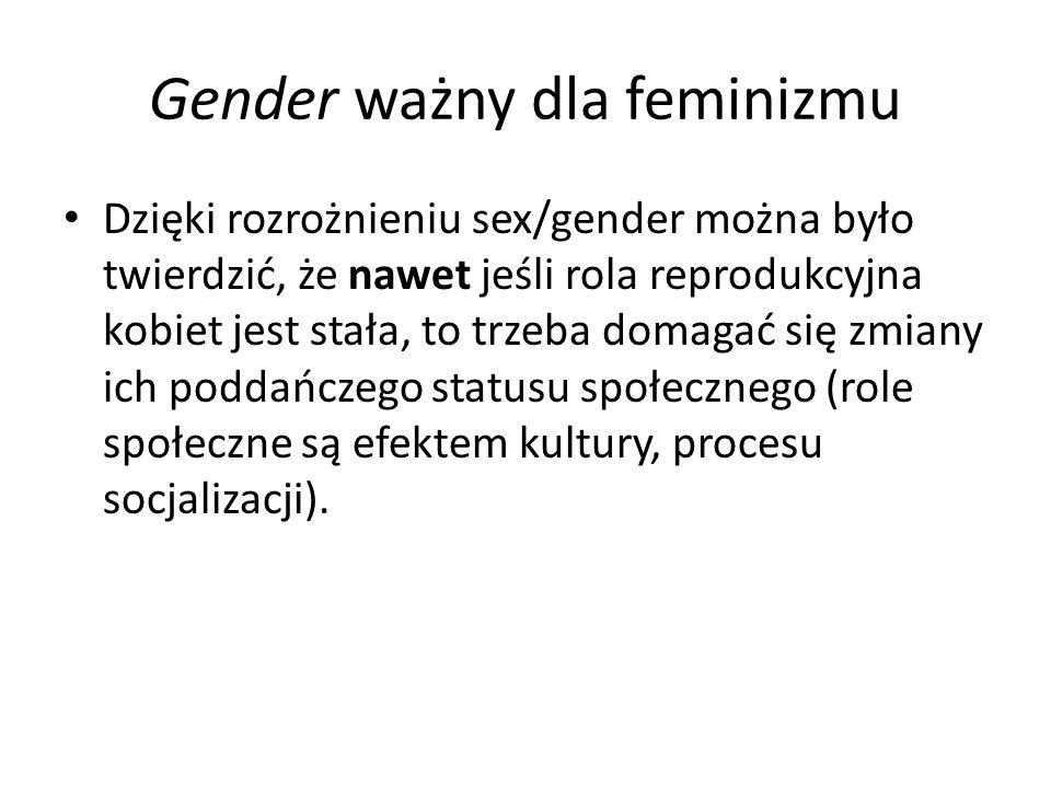 Gender ważny dla feminizmu
