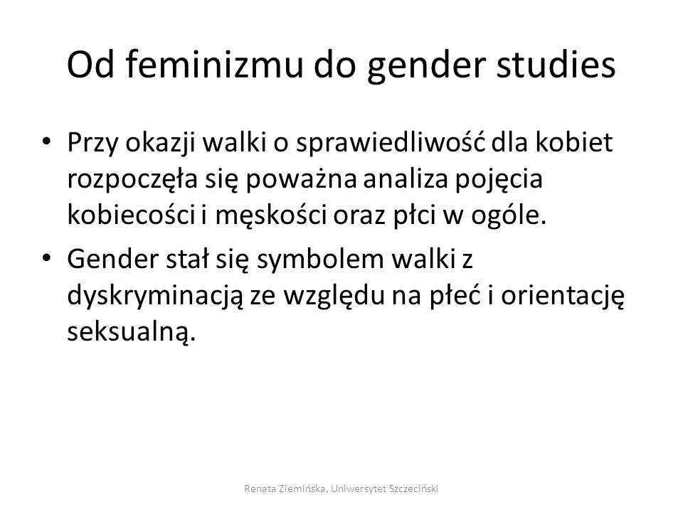 Od feminizmu do gender studies