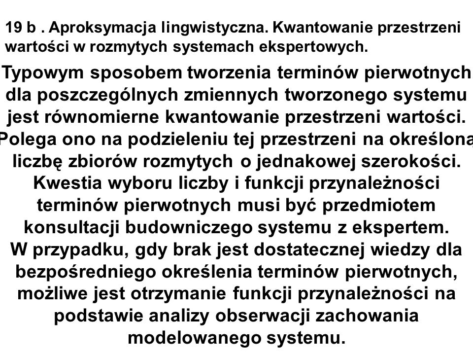 19 b. Aproksymacja lingwistyczna