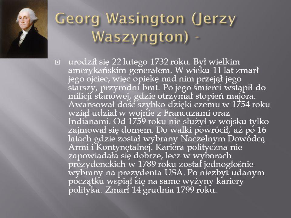 Georg Wasington (Jerzy Waszyngton) -