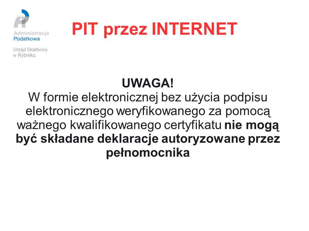 PIT przez INTERNET UWAGA!