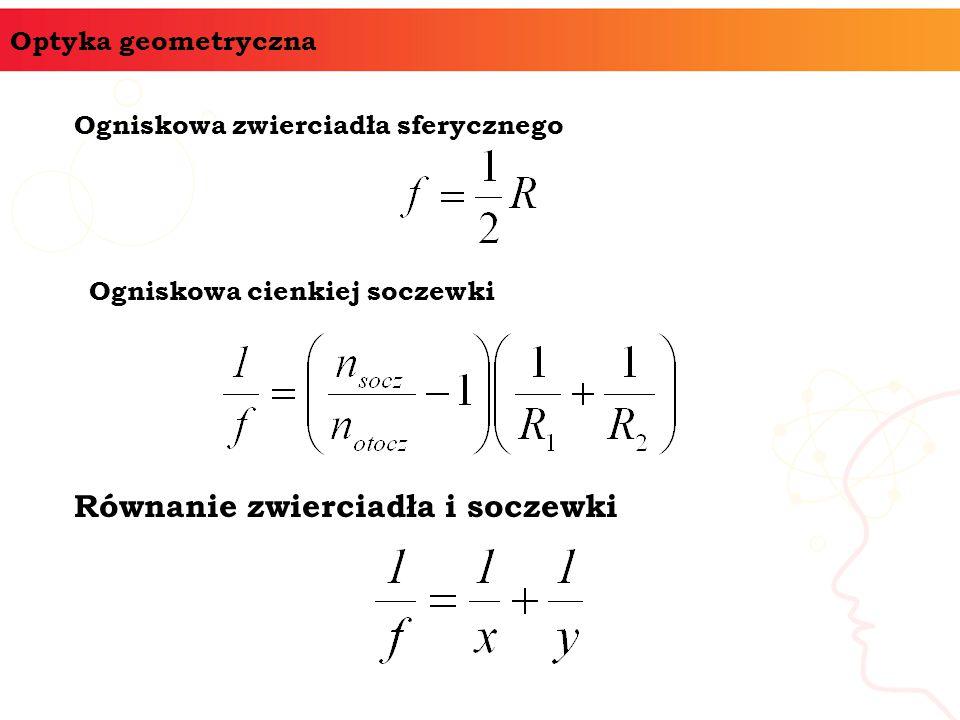 Równanie zwierciadła i soczewki