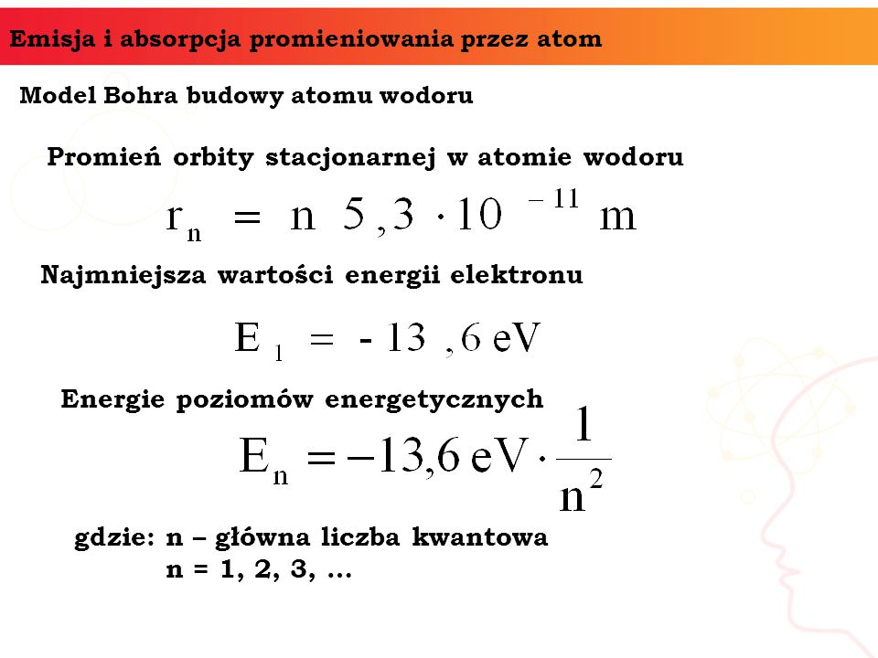 Promień orbity stacjonarnej w atomie wodoru
