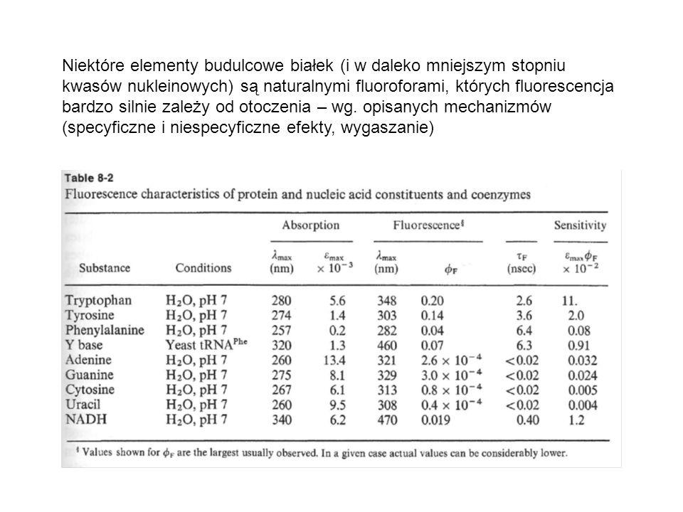 Niektóre elementy budulcowe białek (i w daleko mniejszym stopniu