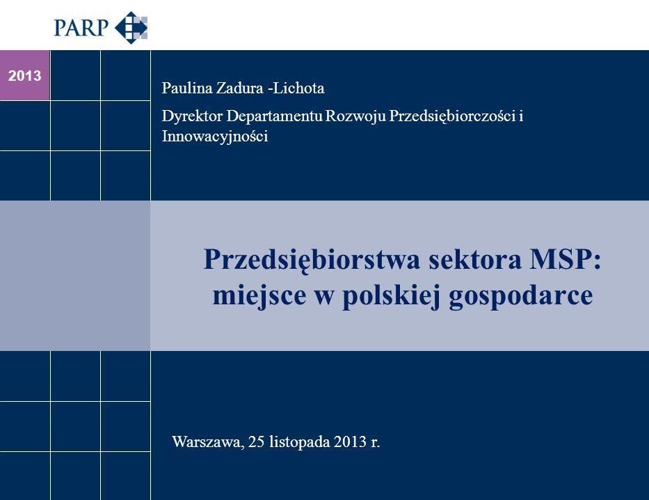 Przedsiębiorstwa sektora MSP: miejsce w polskiej gospodarce