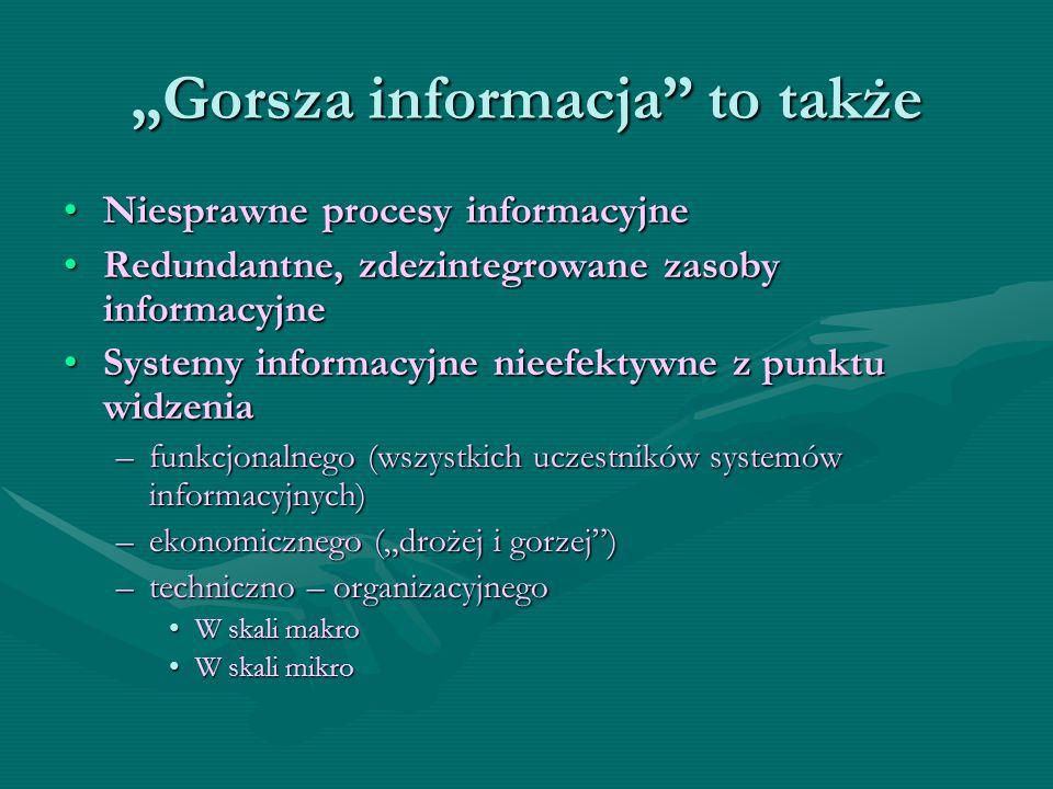 """""""Gorsza informacja to także"""
