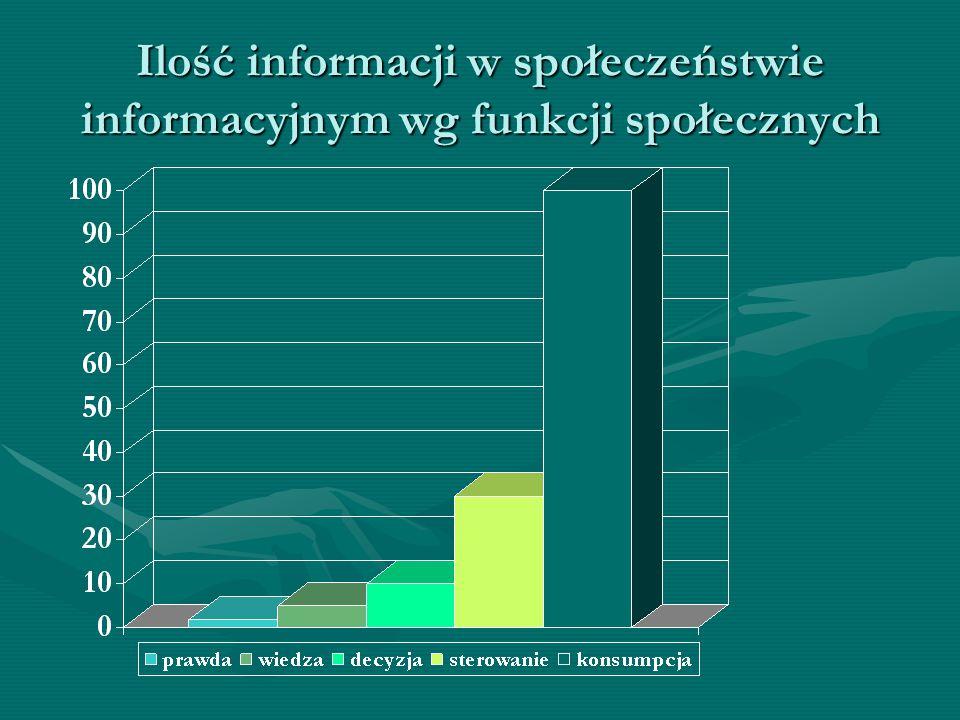 Ilość informacji w społeczeństwie informacyjnym wg funkcji społecznych
