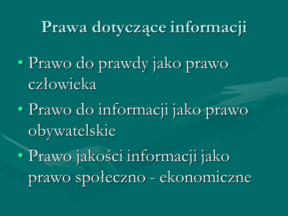 Prawa dotyczące informacji