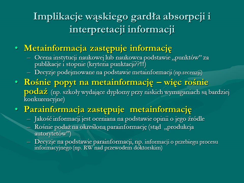 Implikacje wąskiego gardła absorpcji i interpretacji informacji