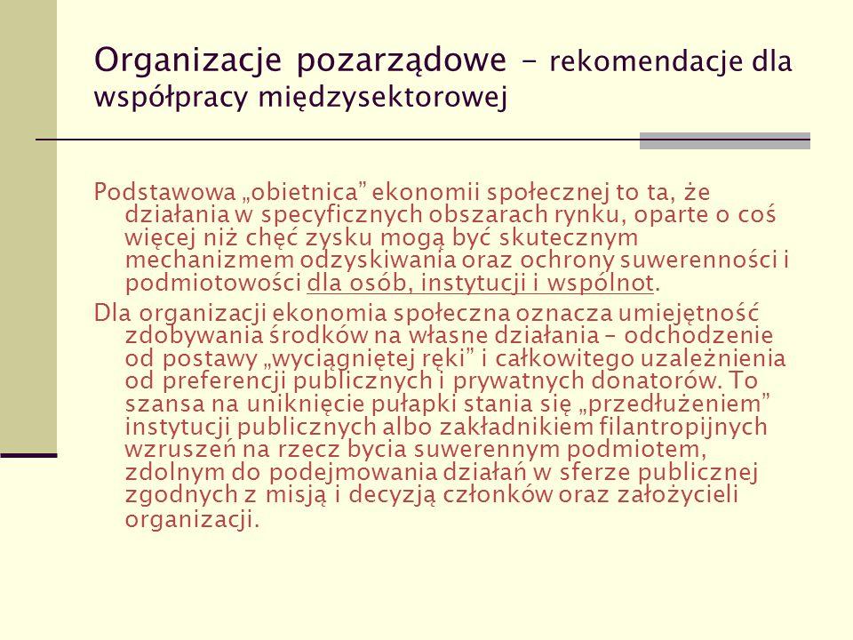 Organizacje pozarządowe – rekomendacje dla współpracy międzysektorowej