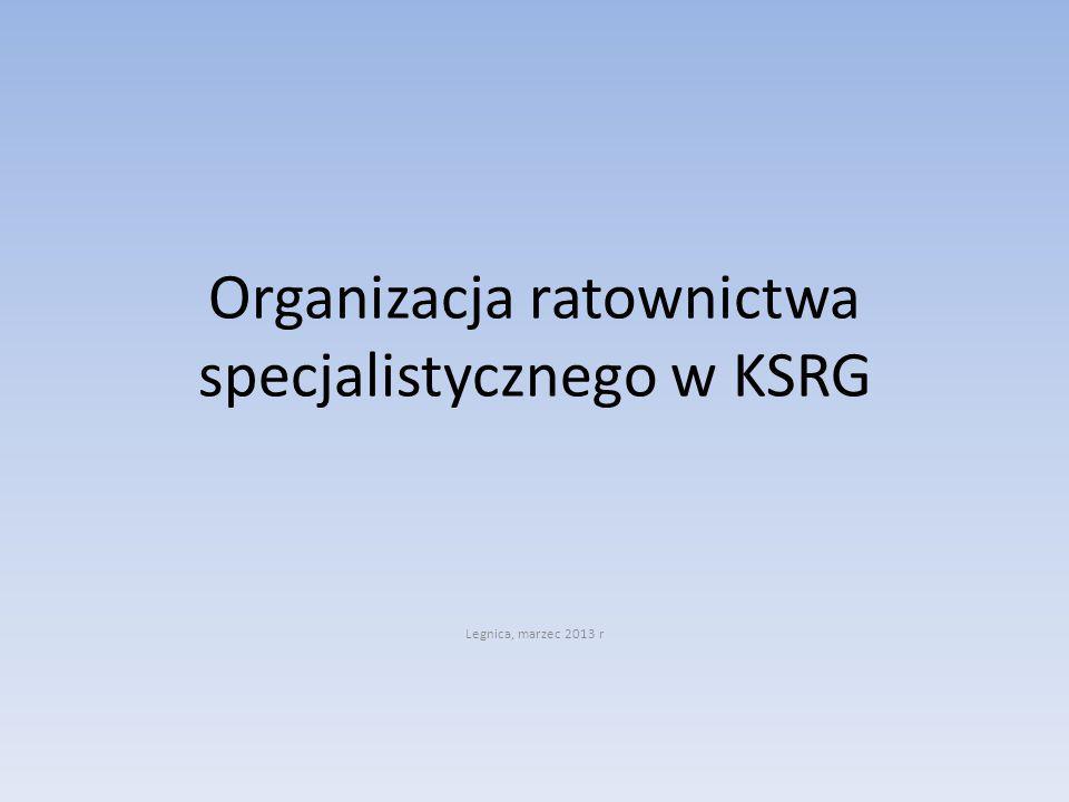 Organizacja ratownictwa specjalistycznego w KSRG