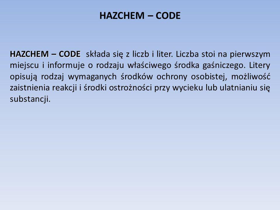 HAZCHEM – CODE