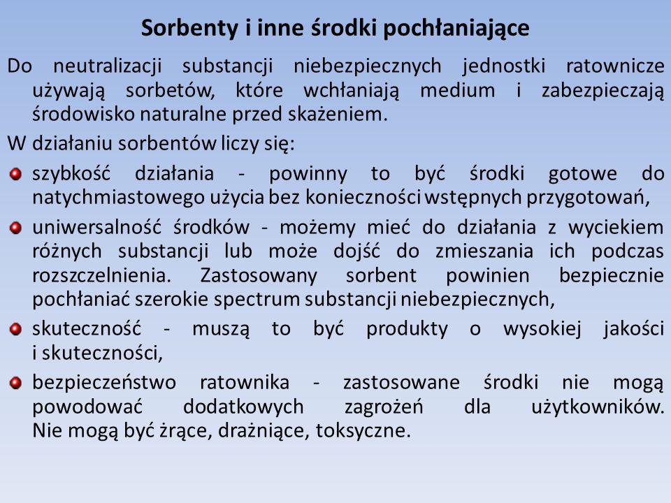 Sorbenty i inne środki pochłaniające