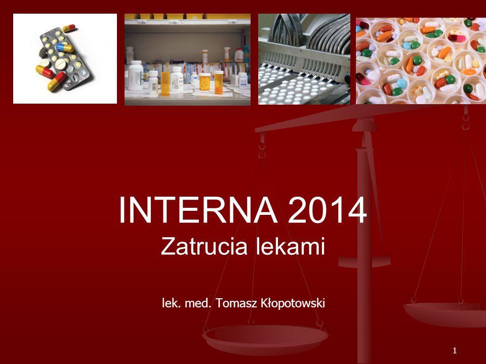 INTERNA 2014 Zatrucia lekami