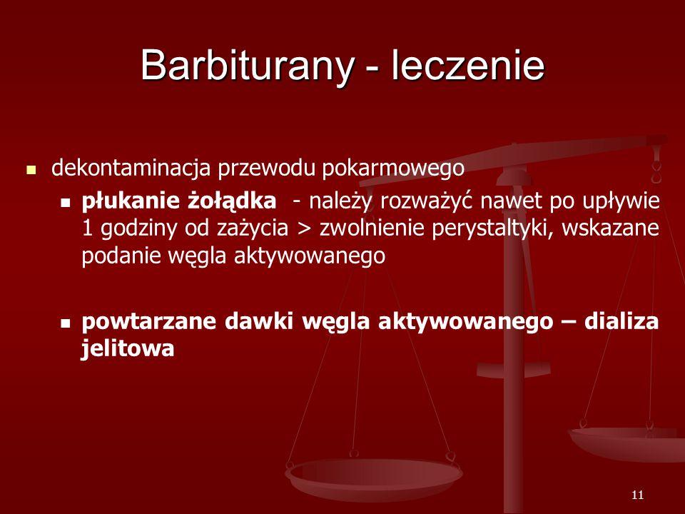 Barbiturany - leczenie